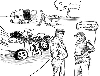 Cartoon-of-Car-Crash-and-Texting | TextKills | Flickr