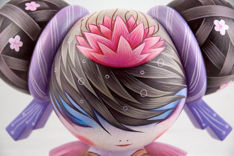 blossom detail | Blossom, Custom Mei Mei, Vinyl, 6 x 9 x 5 ...
