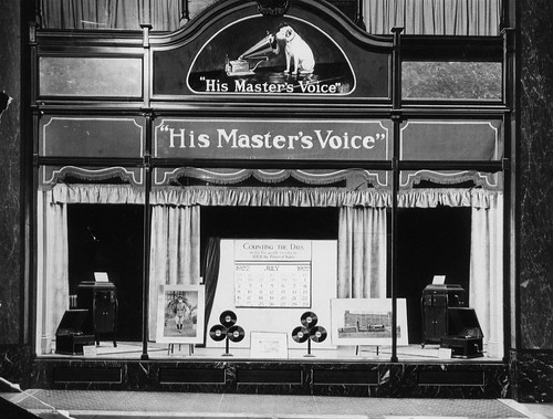 hmv 363 Oxford Street, London - exterior of store 20s or 30s