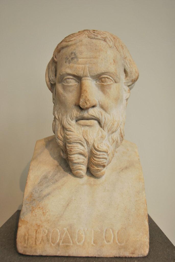 Marble Bust Of Herodotus Marble Bust Of Herodotus Roman