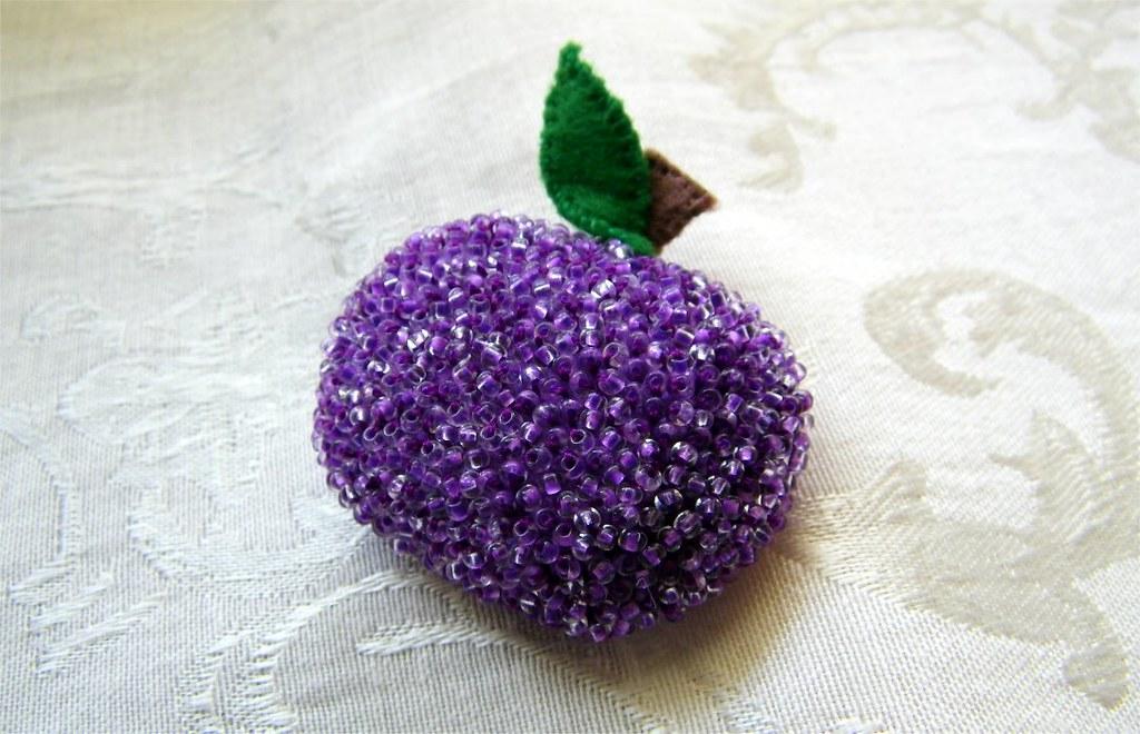 Purple Glass Christmas Decorations