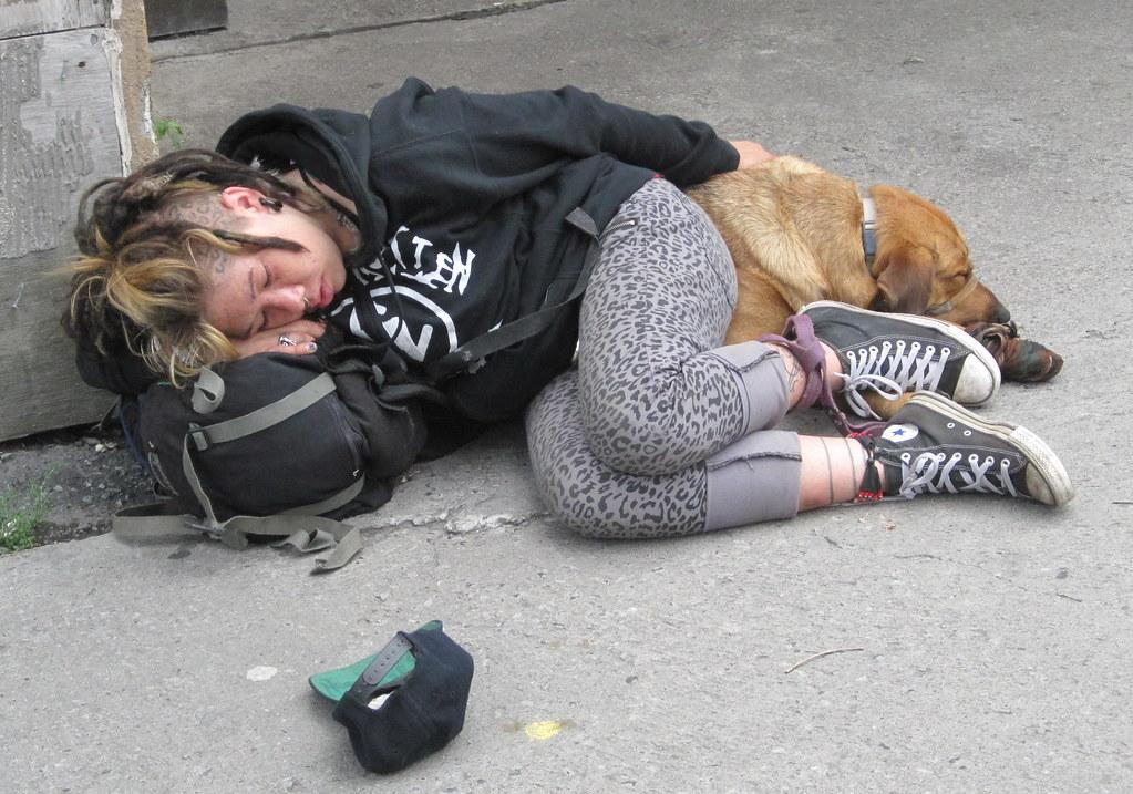 Homeless Naked Girl