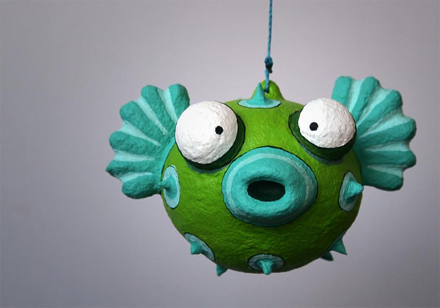 Pufferfish este es un nuevo personaje un pez globo - Como hacer figuras con globos ...