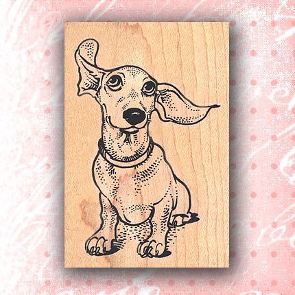 Dachshund with flying ears craft stamps rubber stamp for Custom craft rubber stamps