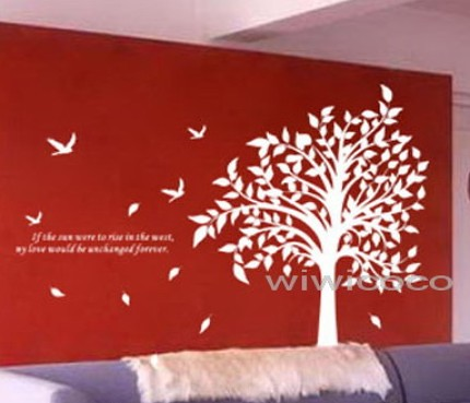 ... White Tree Wall Decals | By Wiwicoco