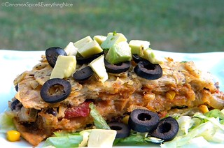 Spicy Black Bean and Corn Tortilla Pie | by CinnamonKitchn