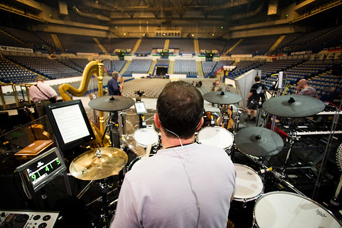 Sound check, Wembley (I think) | by gordymarshall