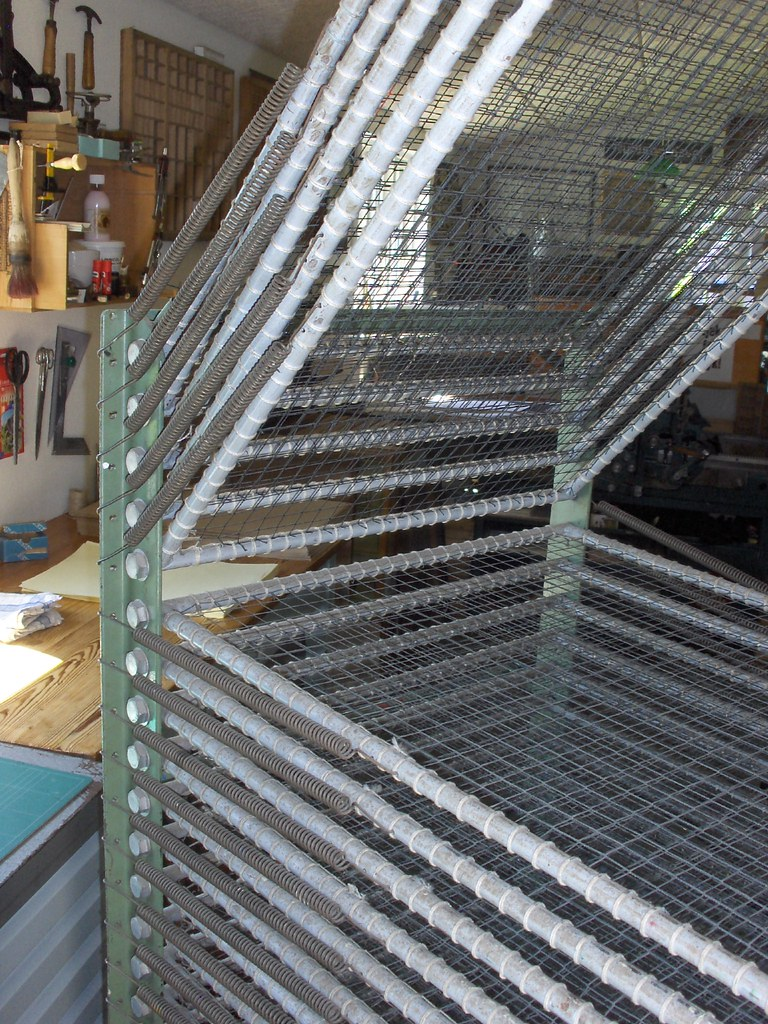 Screen Storage Racks : My screen printing drying rack jens jørgen hansen