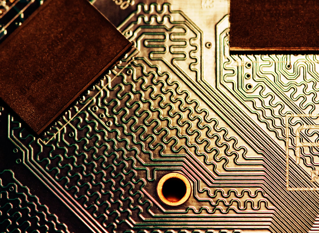 Circuit Board art | The cooling fan on Adam\'s graphics card … | Flickr