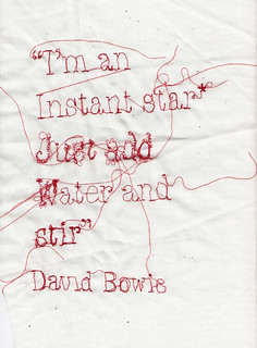 Star* David Bowie | by RosieG Embroidery