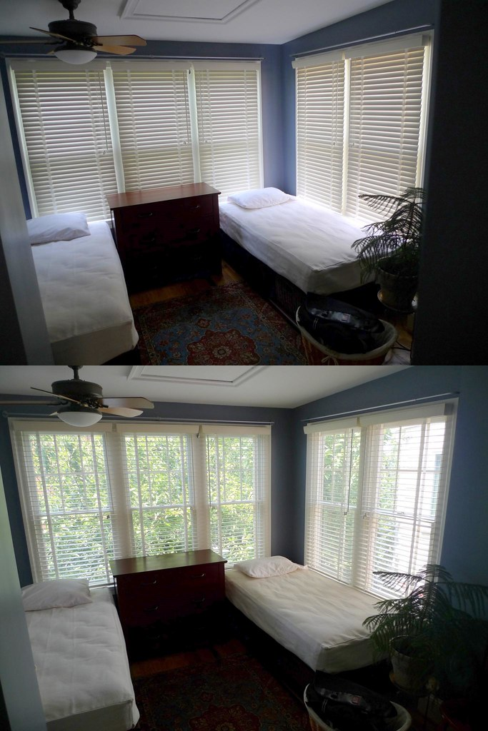 White Wooden Guest Bed With Mattresses