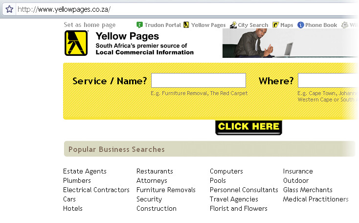 Image result for Yellow Pages