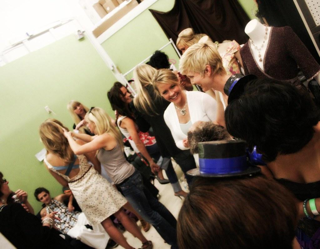 Backstage Dressing Room Fashion Show