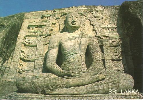 Buddha rock carving sri lanka postcard available flickr
