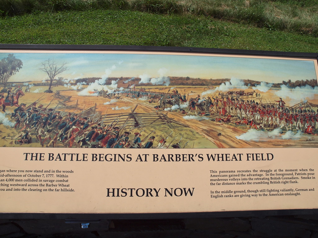 Marker At Barber S Wheat Field Saratoga Battlefield Flickr
