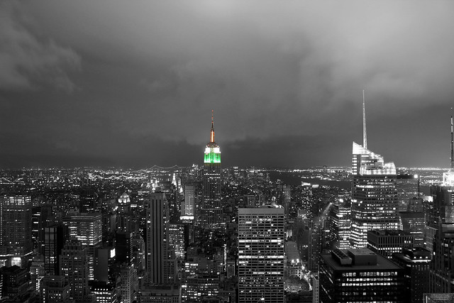 Empire State Building Indian Tricolor