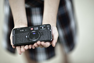 iPhone 4 skinned to look like a Leica M9 | by joey_joey_joey