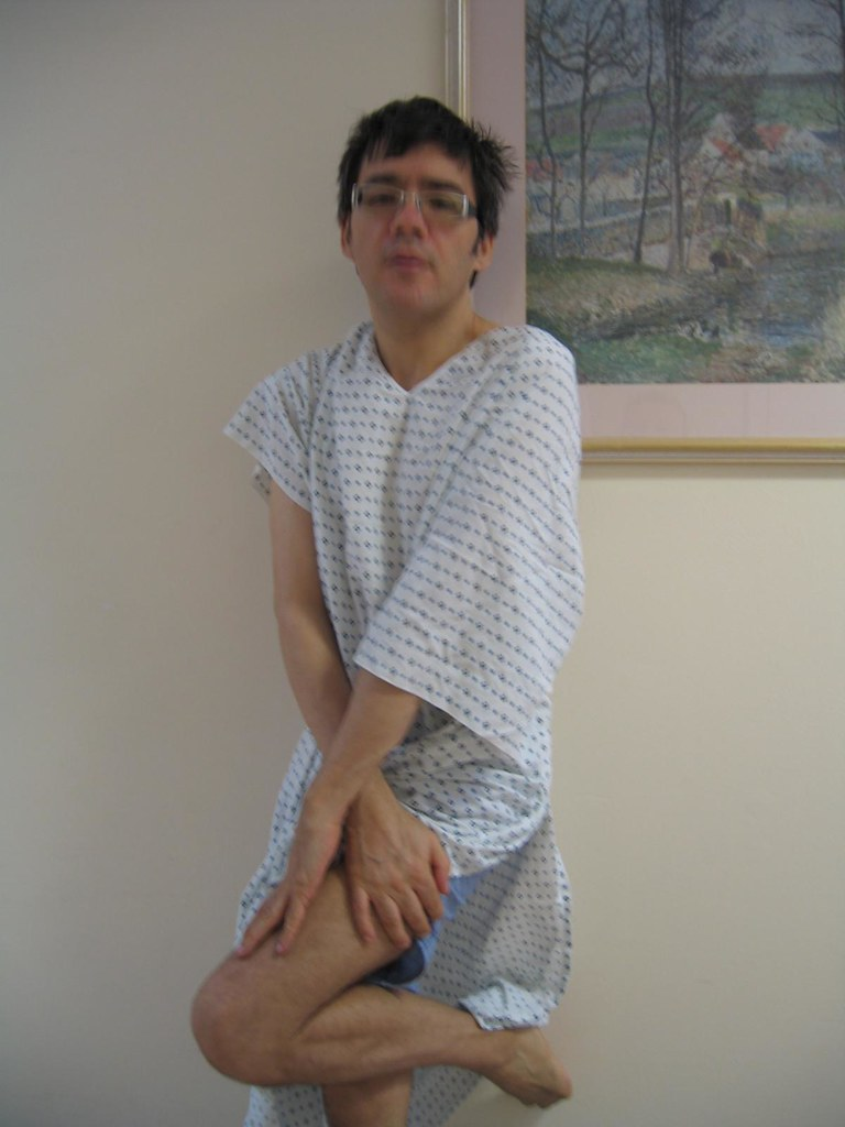 hospital gown waiting for X ray | Spike St john | Flickr