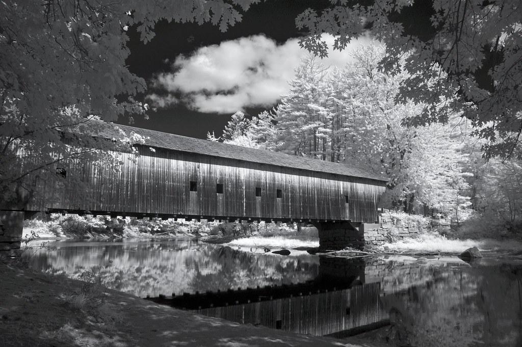 Hemlock Covered Bridge This Bridge Spanning The Saco
