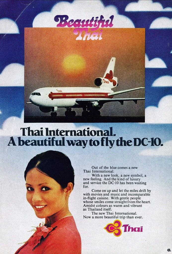 04 >> Thai Airways Douglas DC-10 ad | US magazine ad for Thai Airw… | Flickr