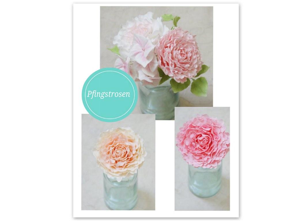 Pfignstrosen Aus Zucker Zuckerblumen Hochzeitstorte Cak Flickr