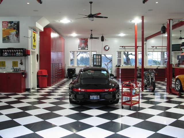 what a man 39 s garage should look like posted via email from flickr. Black Bedroom Furniture Sets. Home Design Ideas