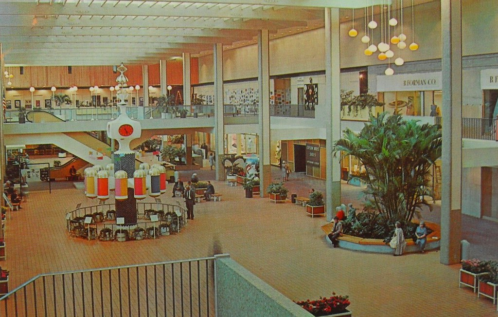 1960s Rochester New York Midtown Square Shopping Mall Inte