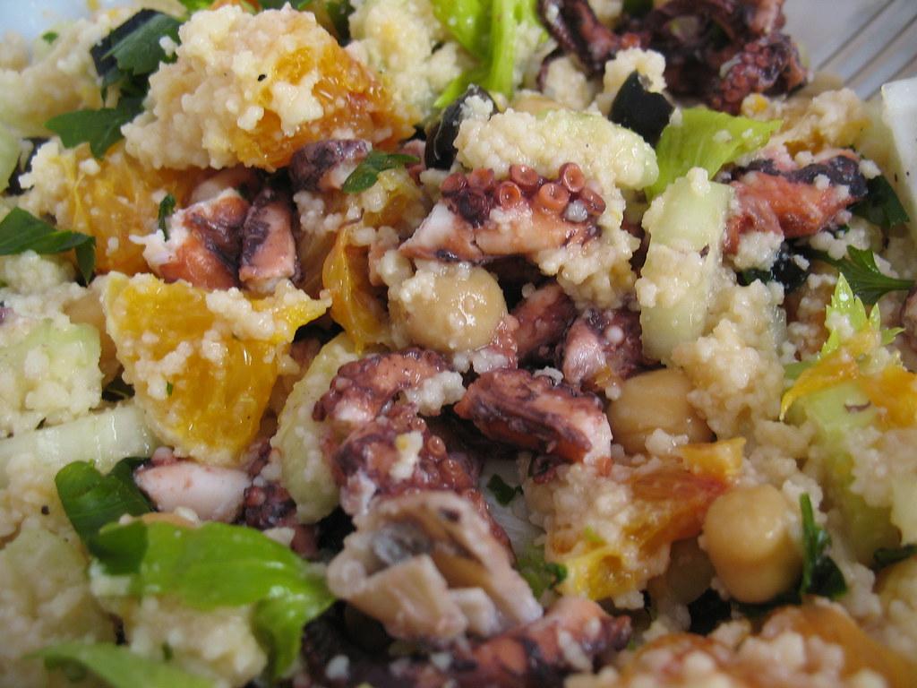 Insalata di cous cous polpo e ceci questa ricetta si for Cucinare in 3d