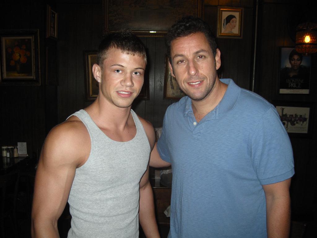 Brett Swanson and Adam... Adam Sandler