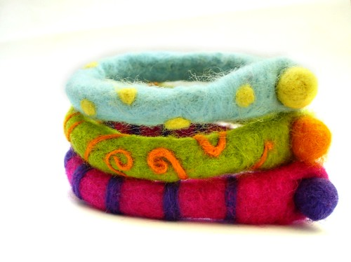 Felted Multifunctional 3 Ankle bracelets | by Cinnamon & Cloves