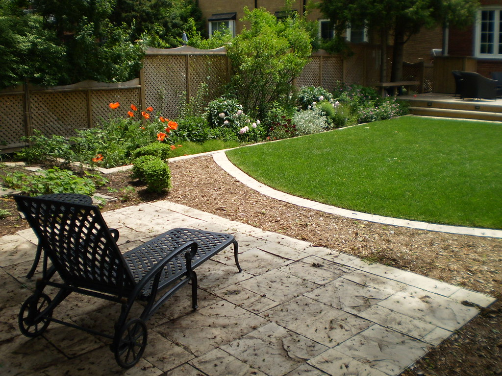 Backyard landscape design in richmond hill a small for Landscaping a small hill