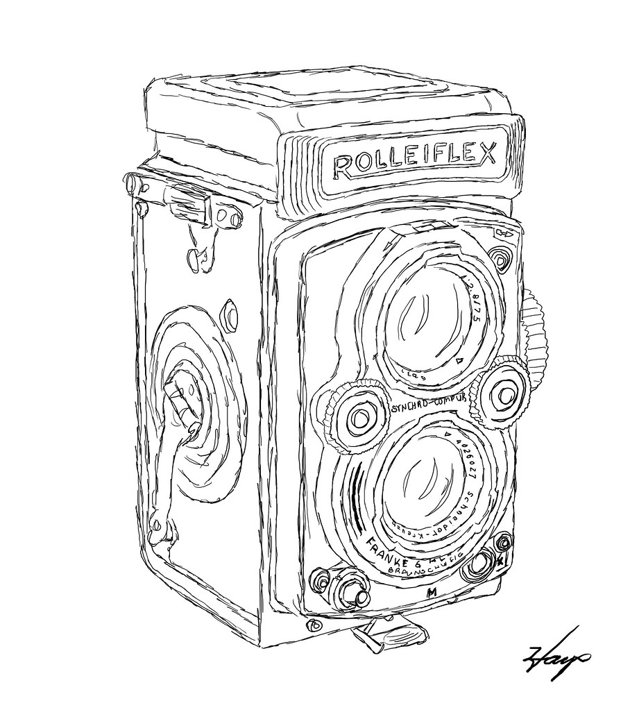 Rolleiflex Camera Drawing Rolleiflex | by dr