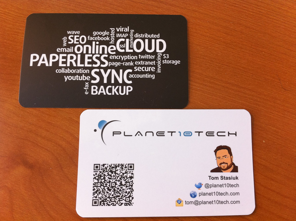 Planet10tech business card with qr code provided with a cr flickr planet10tech business card with qr code by tomasz stasiuk colourmoves