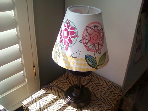 Lampshade created w my new stamp line | by claudinehellmuth