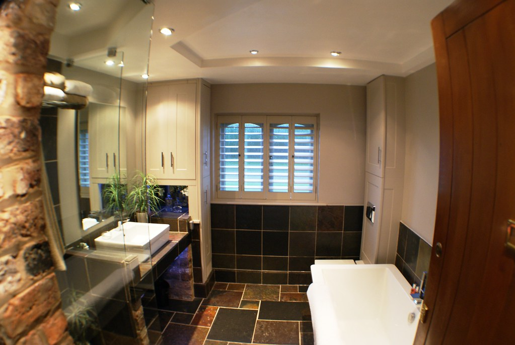 A Spacious Bathroom, With Plenty Of Storage