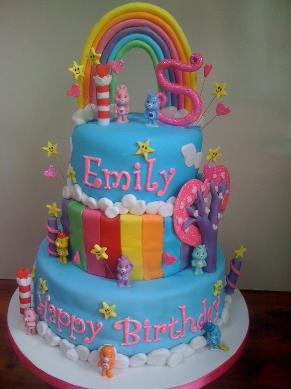 Care Bear Themed Cake For My Daughters 5th Birthday Flickr