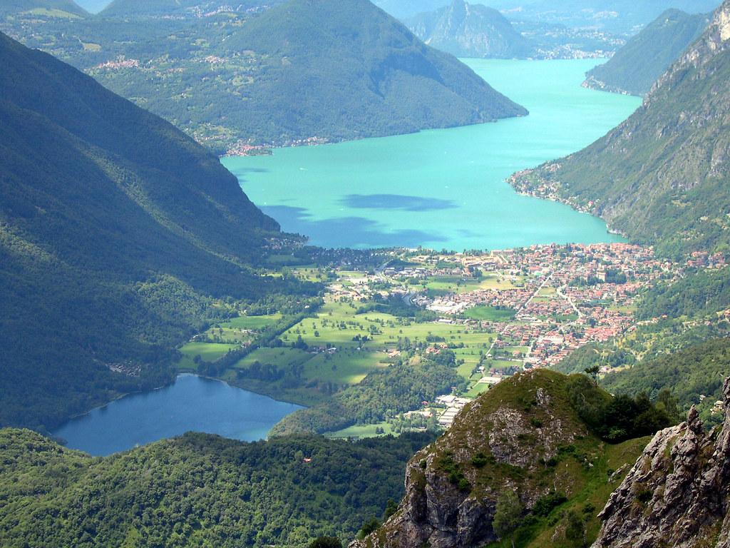 Porlezza con il ramo del Lago di Lugano | GIULIO VERTEMATI ...