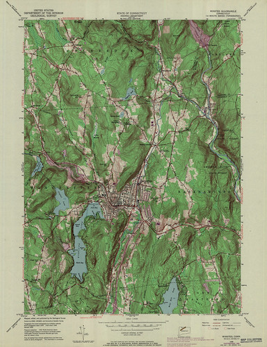 Winsted Quadrangle 1969 - USGS Topographic Map 1:24,000 | by uconnlibrariesmagic