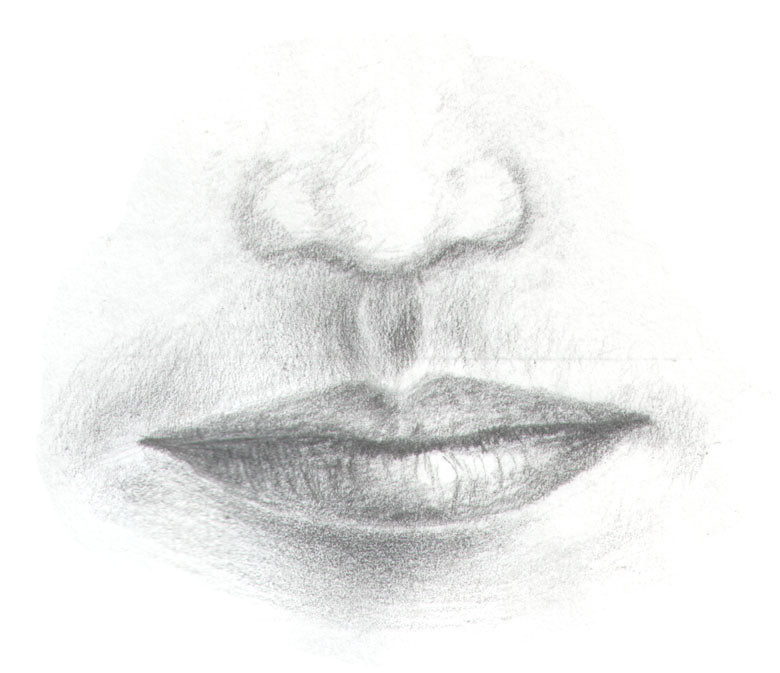 Pencil drawing nose mouth i wasnt any good at pencil dr flickr ccuart Choice Image