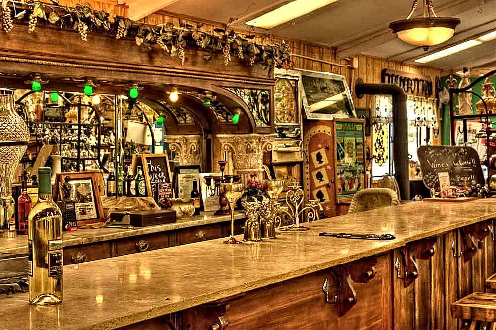 Bar At Depot Antique Mall Wine And Pub In Los Alamos Cali