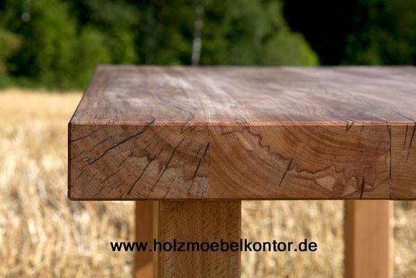 Tisch holztisch lebhafte kernbuche tische nach ma vom for Holztisch nach mass