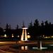 Pleasanton Fountain at Dusk