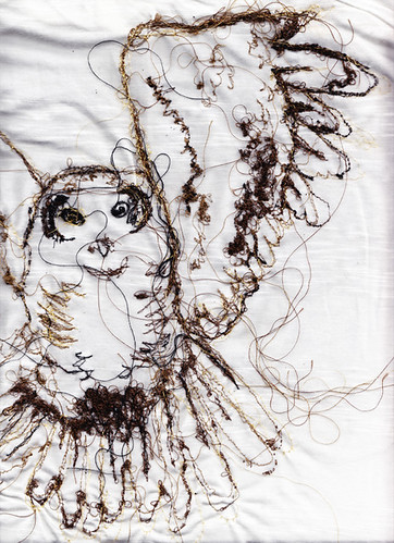 Owl illustration | by RosieG Embroidery