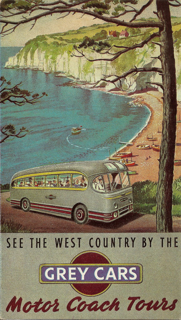 see the west country by the grey cars brochure c1950s. Black Bedroom Furniture Sets. Home Design Ideas