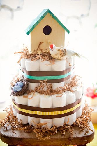 Bird themed diaper cake | by Smashley2
