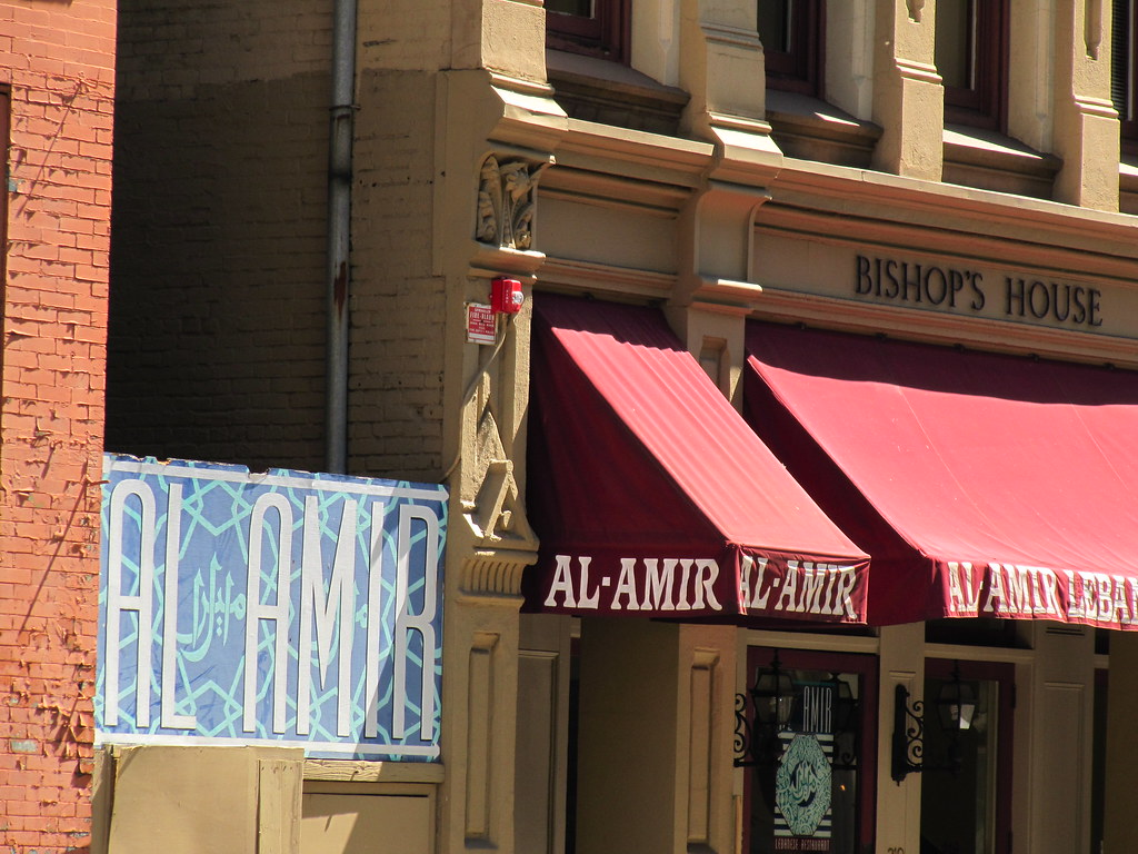 Al amir lebanese restaurant at the bishop 39 s house histori for Al amir lebanese cuisine