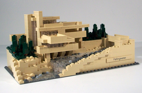Lego architecture 21005 fallingwater review finished mod flickr - Lego falling waters ...