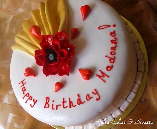 Madonna With Birthday Cake