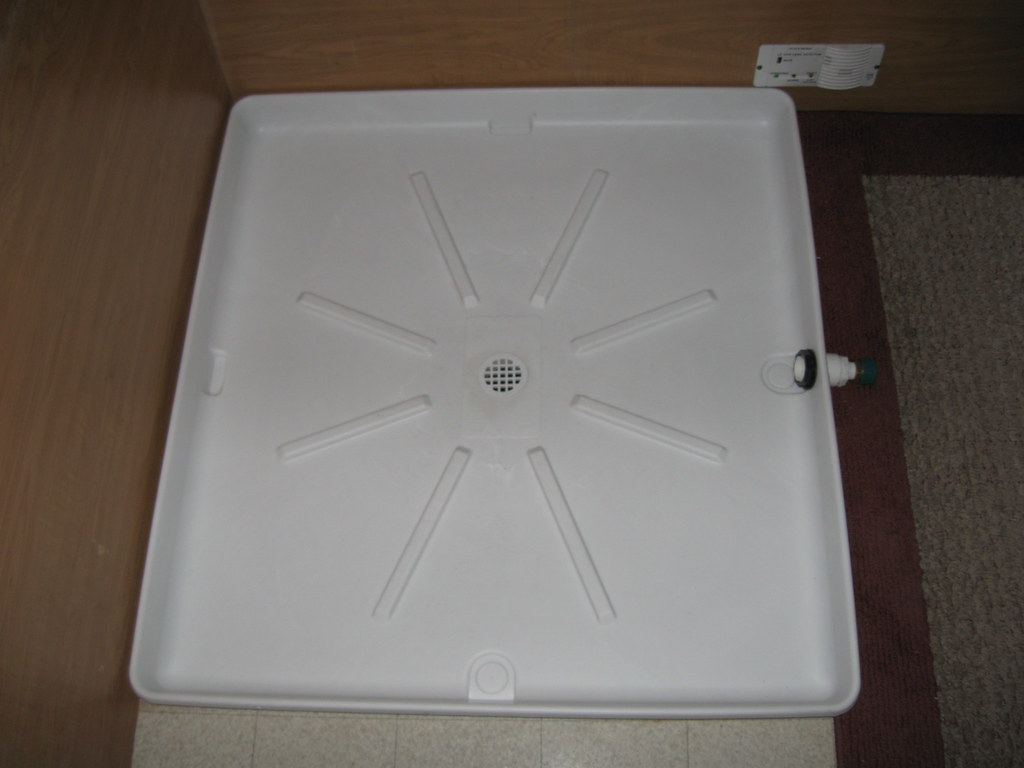 Portable Indoor Shower | Washing machine floor tray used as … | Flickr