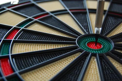 dart in bullseye